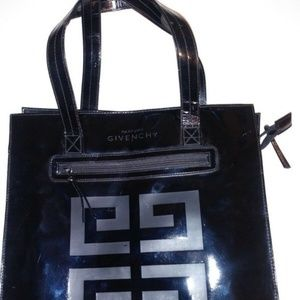 Givenchy Parfums Black Patent Leather Tote